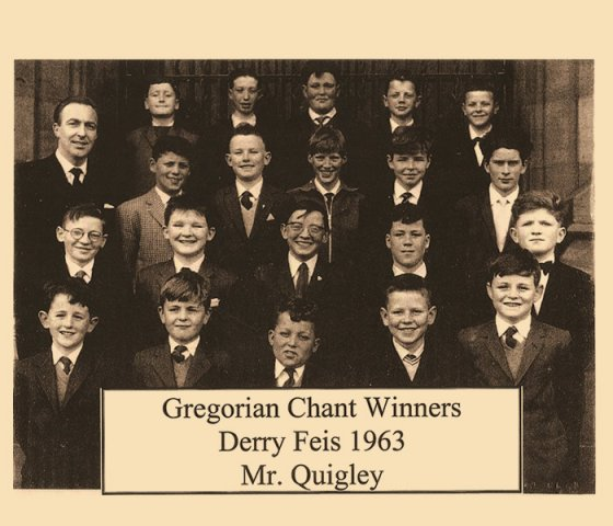 Gregorian chant winners Derry Feis 1963  with Mr Quigley
