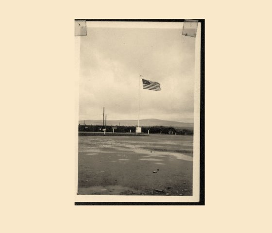 Flag & Church Pennant, Springtown, N.I. 1945