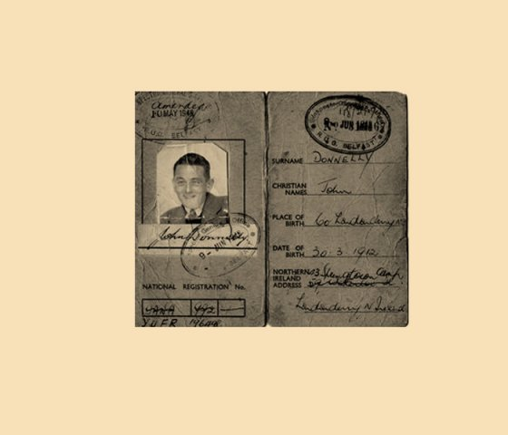 Travel Identity Card for John Donnelly